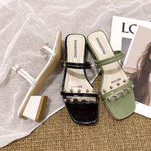 Women Jelly Sandals Jelly Sandals High Heels 2020 New Summer Sandals Ladies Low Heel Flat Head Dress Party Shoes Size 35-40 eiswelt 2017 new women sandals sweet bowtie flat shoes woman summer jelly shoes 4 colors size 35 39 dzw23