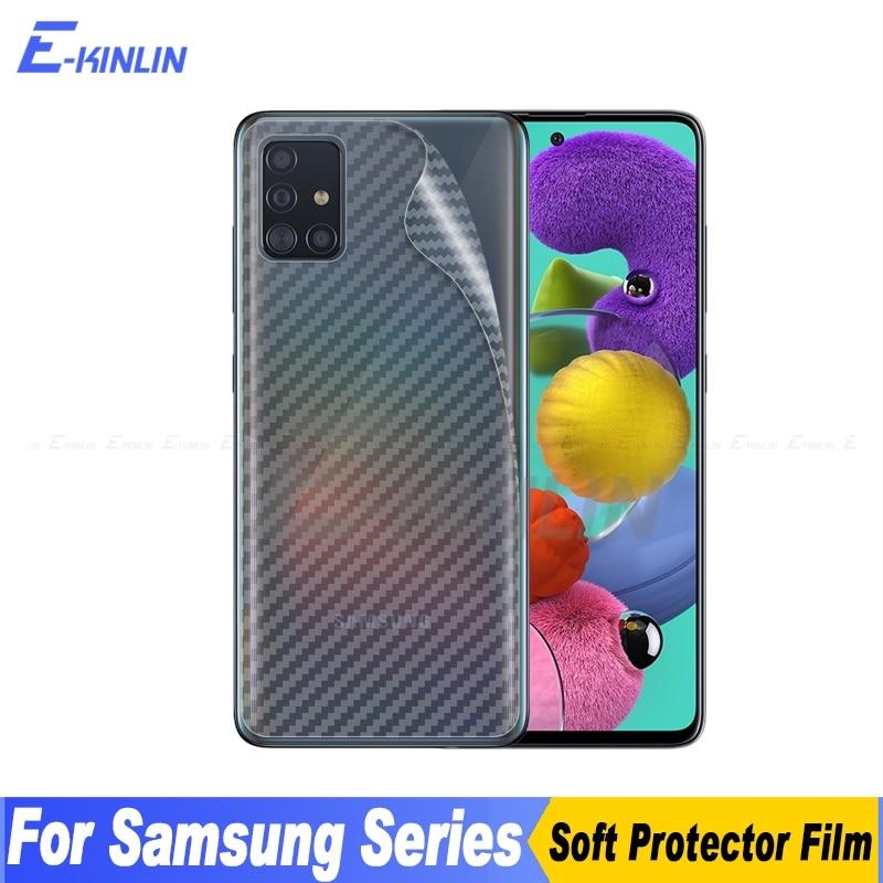 3D Carbon Fiber Back Cover Screen Protector For Samsung Galaxy A01 A11 A31 A41 A51 A71 Sticker Protective Film No Tempered Glass