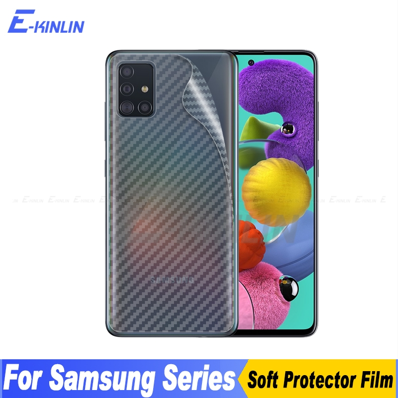 3D Carbon Fiber Back Cover Screen Protector For Samsung Galaxy A51 A71 Sticker Protective Film Not Tempered Glass