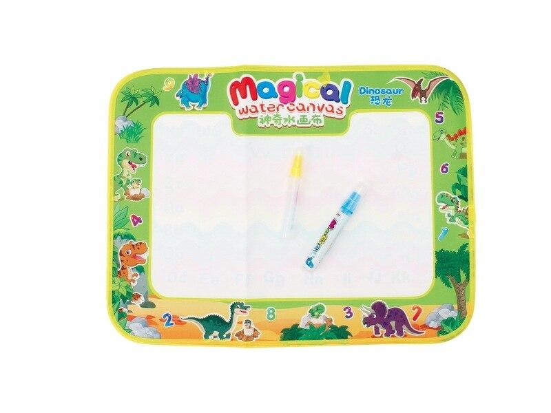 Enfants magique toile couleur Graffiti eau écologique dinosaure faisant des devoirs couverture nourrissons éducation précoce jouet