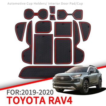 Anti-Slip Mat for Phone Gate Slot Mats Cup Rubber Pads Rug for Toyota RAV4 2019 2020 XA50 RAV 4 50 Car Stickers Accessories 1