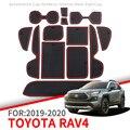 Противоскользящий коврик для телефона ворота шлифовальные маты чашки резиновые коврики коврик для Toyota RAV4 2019 2020 XA50 RAV 4 50 аксессуары для авто...
