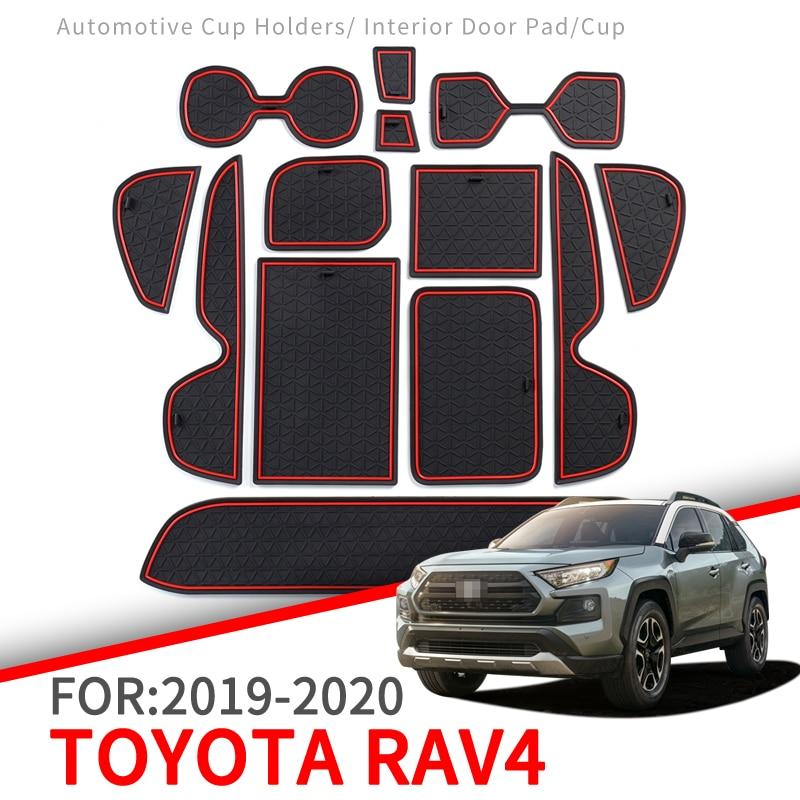 Anti-Slip Mat For Phone Gate Slot Mats Cup Rubber Pads Rug For Toyota RAV4 2019 2020 XA50 RAV 4 50 Car Stickers Accessories