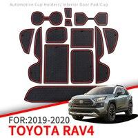 Tapis anti-dérapant pour porte de téléphone tapis de fente tasse tapis en caoutchouc pour Toyota RAV4 2019 2020 XA50 RAV 4 50 accessoires autocollants de voiture