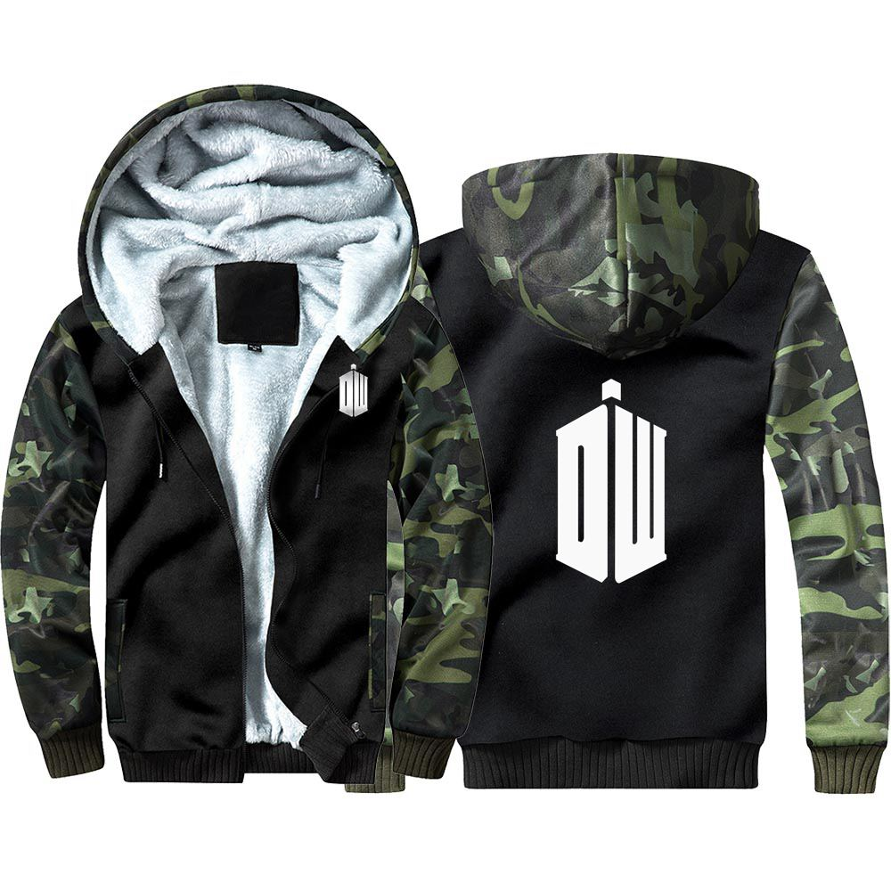 New Doctor Who Thicken Hoodie Sweatshirts Winter Coat Cosplay Costume Anime Thicken Warm Hooded Men Clothing