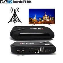 Dvbt2 android caixa de tv modo duplo conjunto caixa superior amlogic s905 quad core tv receptor suporte 4k display h.264 caixa de tv