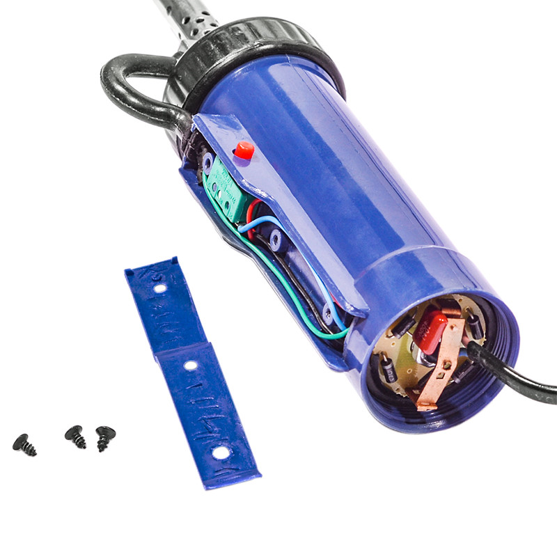 Tools : Solder Sucker 30W 220V 50Hz Electric Vacuum Desoldering Pump Iron Gun Soldering Black Blue Repair Tool with Nozzle and Drill Rod