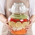 Прозрачная стеклянная банка для соленья корейская маринованная бутылка герметичный контейнер для хранения еды Kimchi банка редиска чили бано...