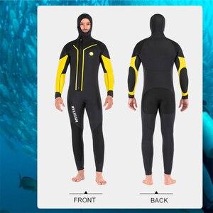 Image 4 - 7Mm Neopreen Onderwatervissers Wetsuit Front Zip Warm Houden Duikpak Voor Mannen Onderwater Jacht Zwemmen Surfen Wetsuits
