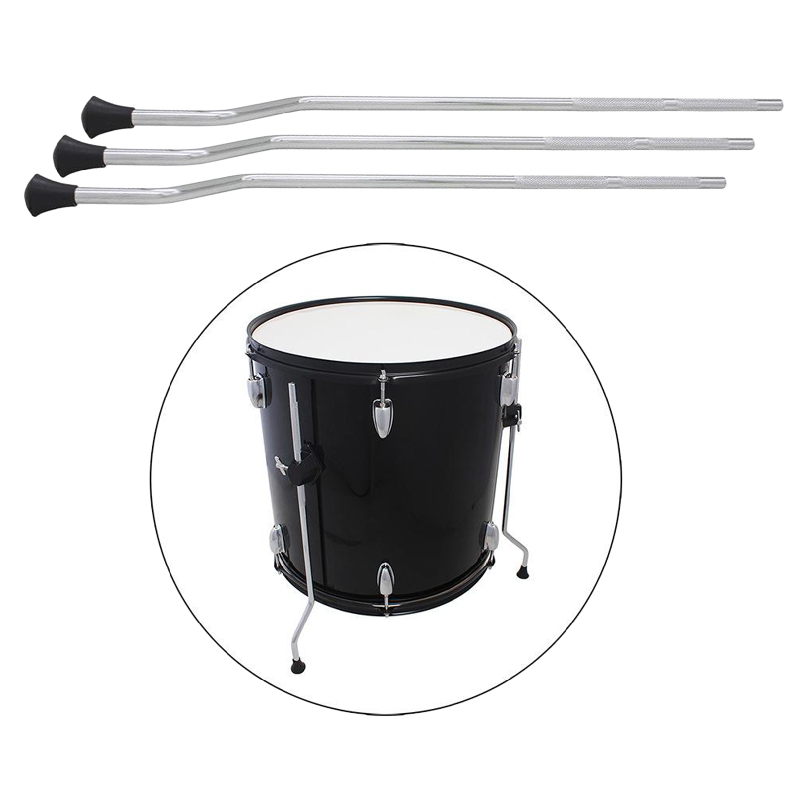 Heavy Duty Floor Tom Drum Legs Non-slip Surface Plating Anti-Rust Percussion Replacement Parts Accessories DIY enlarge