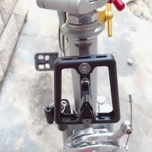 Carrier-Holder Brompton Bracket Bike-Bag Bicycle-Part Folding CNC Aluminum-Alloy