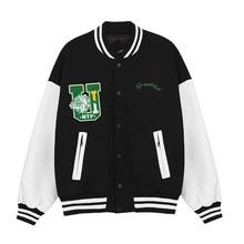 2021 Autumn and Winter New Bulldog Embroidered Jacket Men and Women Retro Street Jacket Baseball Uniform Jacket Couple Suit  XXL