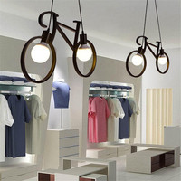 Retro Bicycle Pendant Light Creative Iron Luminaire Living Room Pendant Simple Restaurant Bar Industrial Kitchen Hanging Lamps|Pendant Lights| |  -