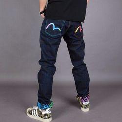 2020 Evisu Новое поступление повседневные мужские дышащие джинсы высокого качества теплые мужские Брендовые прямые мужские брюки с вышивкой