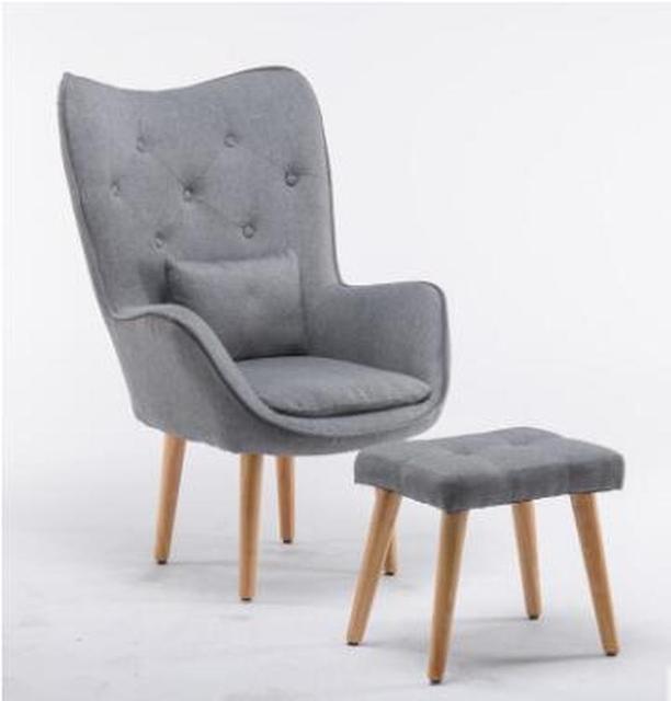 H Nordic Single Living Room Sofa Balcony Apartment Mini Chair Modern Minimalist Sofa Personality Leisure Bedroom Room Chair 3