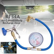 practical r134a to r12 r22 refrigerant recharge hose pipe R134A Air Conditioning Recharge Measuring Hose Gauge Valve Refrigerant Pipe Auto Car Air-conditioning Accessories