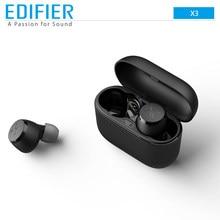 EDIFIER x3 tws suporte aptx assistente de voz sem fio bluetooth fone ouvido toque controle ipx5 esporte gaming fone