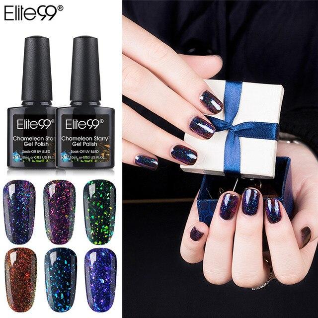 Elite99 Nail art Design 10ML Tränken Weg Von Emaille UV Gel Nagellack Lack Lack Chameleon Gel Polnischen Schwarz Basierend LED Lampe