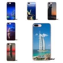 Cubierta de teléfono de TPU suave Burj Al Arab edificios icónicos Dubai para Xiaomi rojo mi 4 3 3S Pro mi 3 mi 4 mi 4i mi 4C mi 5 mi 5S mi Max nota 2 3 4