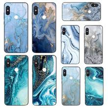 MaiYaCa Green fashion marble blue aesthetic Phone Case For