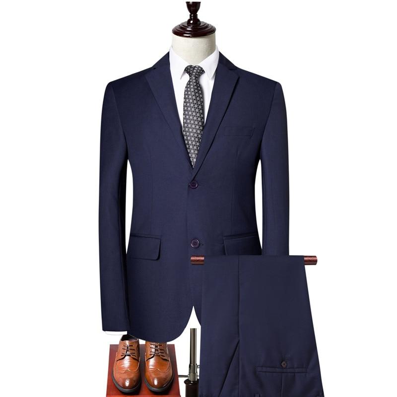 Suit Set Three-piece Wedding Dress (coat + Vest + Pants) Official Business Slim Suits Banquet Men's Professional Blazer