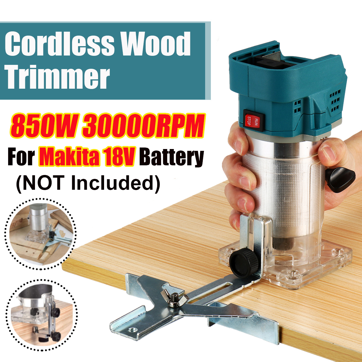 Trimming 850W Electric Trimmer Wood Hand Battery Makita Machine Engraving Cordless Router Wood Trimmer Slotting For 18V Carving
