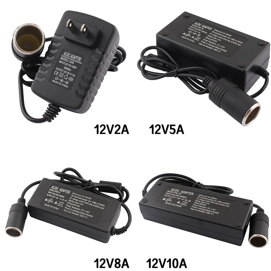 Adaptador AC 12 V DC 220V a 12 V 2A 5A 8A 10A adaptador de corriente de coche convertidor de encendedor de coche inversor 220V a 12 voltios adaptador EU Cargador de batería de litio serie 10 36-42V 2A cargador 42V cargador de batería de litio para vehículo eléctrico conector de paquete de batería de litio