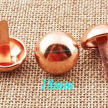Belts Handbags Purse Cone Rivet Craft Feets Rose-Gold Round Dome 18mm 40pcs Post-Caps