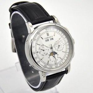 Image 4 - 42 Moon Phase watch men Week calendar year month automatic mechanical часы мужские механические montre homme 316L Stainless stee