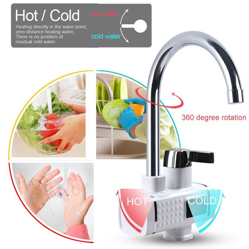 KBAYBO 3000W chauffe-eau électrique cuisine chauffage instantané froid chaud Didital affichage robinet sans réservoir pour cuisine et salle de bain - 4