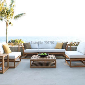 Furniture Patio Garden Sectional Outdoor Sofa-Sets Teak Leisure Large Waterproof