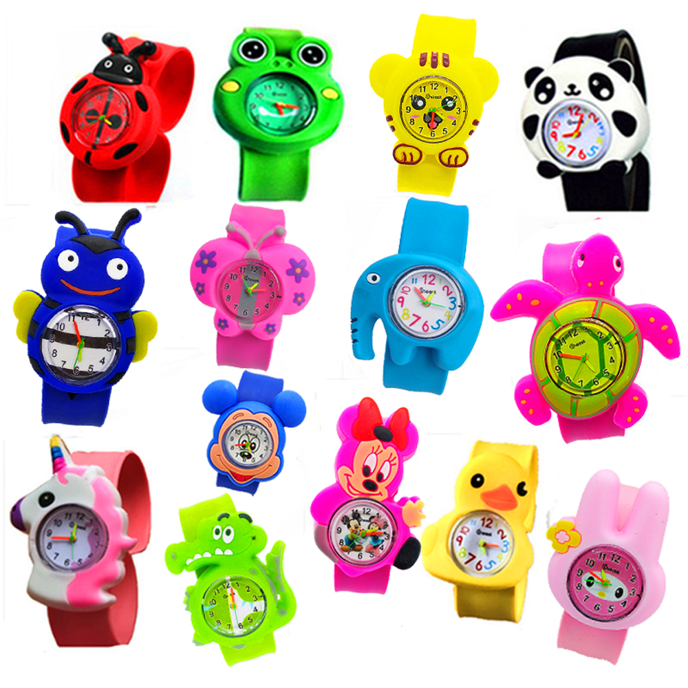 Cool Mickey Toys Children's Watches Baby Birthday Gift Pony Patted Wrist Clock Kids Watches Silicone Child Quartz Digital Watch