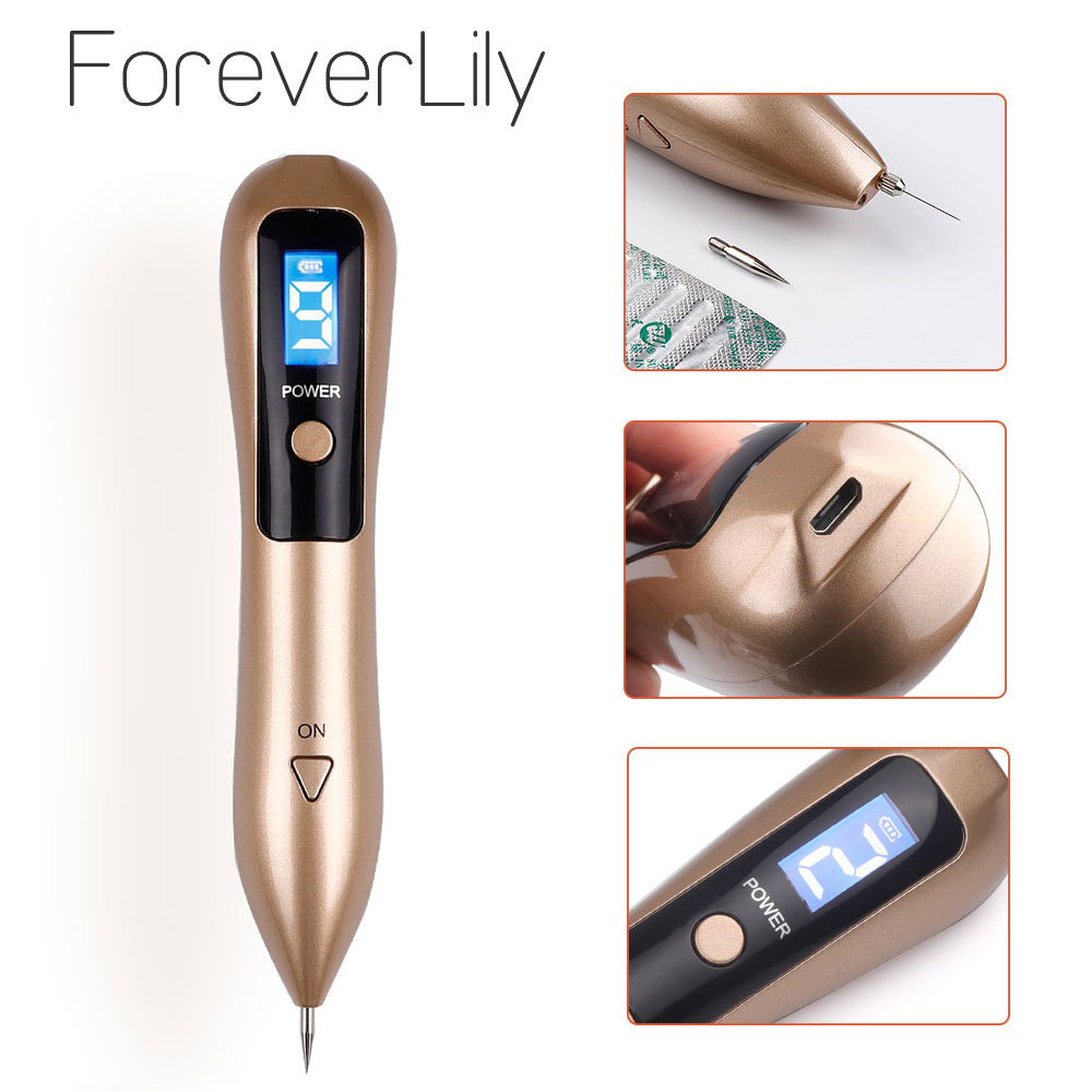 Newest Laser Plasma Pen Mole Removal Dark Spot Remover LCD Skin Care Point Pen Skin Wart Tag Tattoo Removal Tool Beauty Care