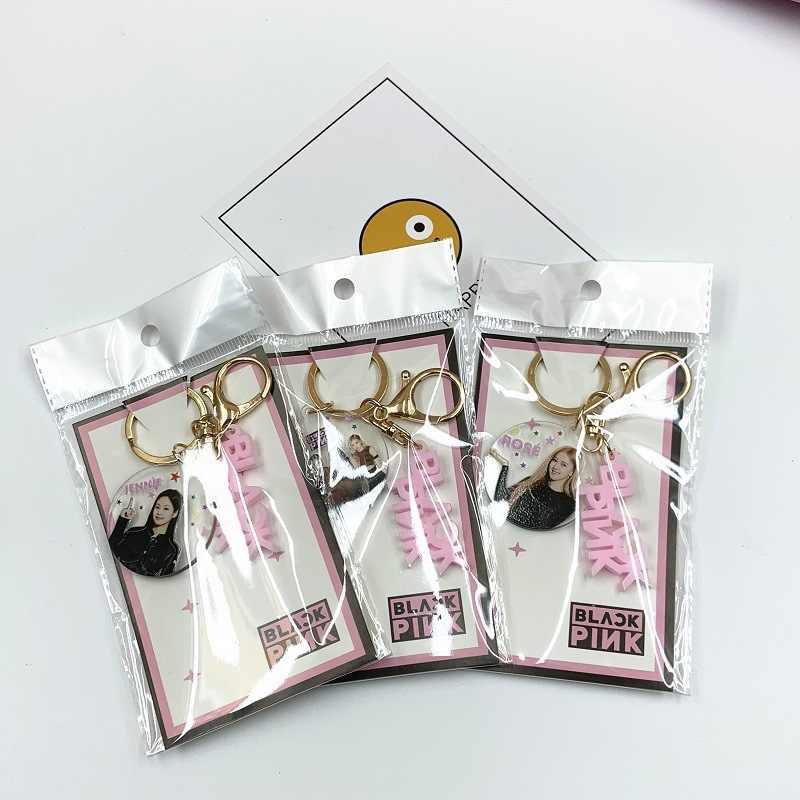 Kpop Bangtan المفاتيح ألبوم جديد Blackpink سلسلة مفاتيح مرتين Got7 Txt الاكريليك كيرينغ اكسسوارات مجوهرات