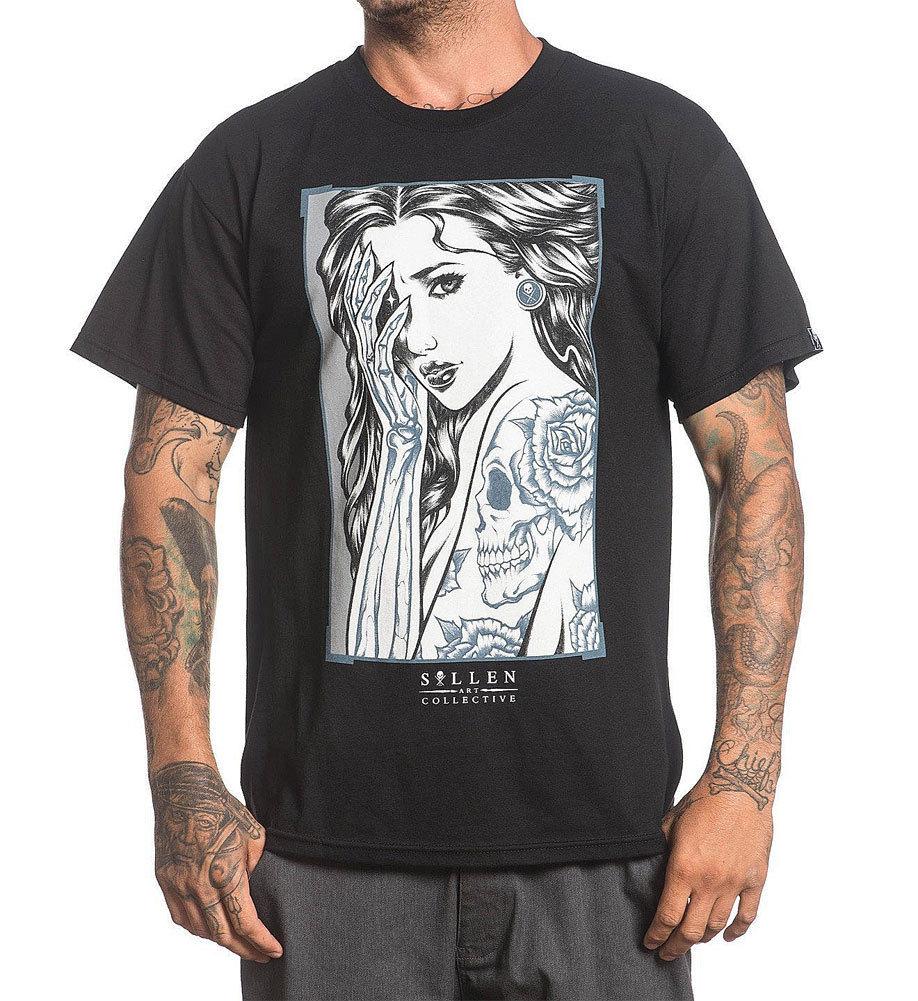Sullen Men's Idle Hands T Shirt Black Adam Jackson Artwork T-shirt Apparel Original Tops Novelty Streetwear(China)