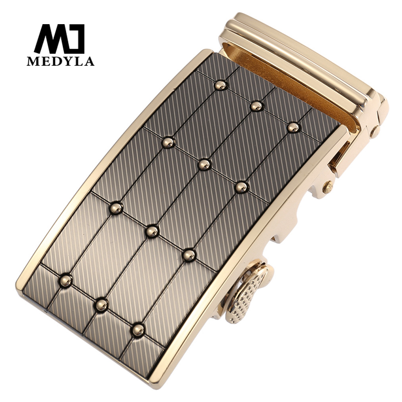 MEDYLA Fashion Noble Metal Belt Buckle Hard Metal Wear-resistant Non-fading Automatic Buckle Men's Inner Diameter 3.6cm Buckle