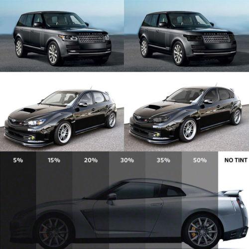 50cm X 1M Black Glass Window Tint Shade Film VLT 15%-50% Auto Car House Roll Car Sun Shade Window Sunshade Tint Cover Protection