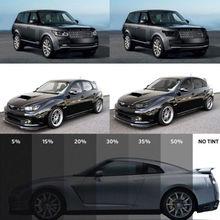 50cm x 1M czarny szkła okno odcień odcień Film VLT 15% 50% Auto samochód dom rolka samochód parasol przeciwsłoneczny osłona przeciwsłoneczna odcień pokrywa ochronna