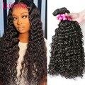Luduna вода пряди 100% человеческие волосы волнистые пряди сделок 8-28 дюймов 150% Remy пряди человеческих волос для наращивания волос для чернокожей ...