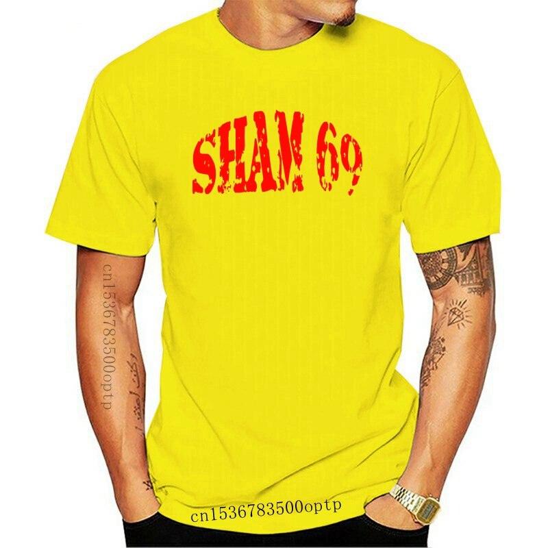 Shirt Printing Online O-Neck Short Sleeve Fashion 2017 Mens Sham 69 Punk Rock Oi Skinhead Tees2020 fashionable Brand 357%cotton