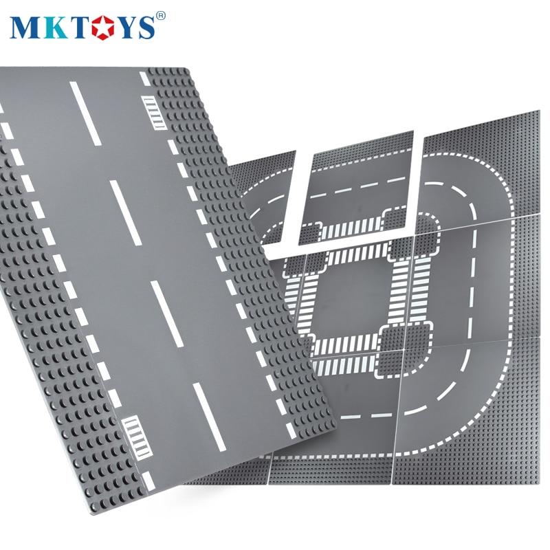 MKTOYS Block Baseplate 32*32 DOTs Bricks Plates Building Blocks Plates Compatible with Classic City Road Street Base Plates