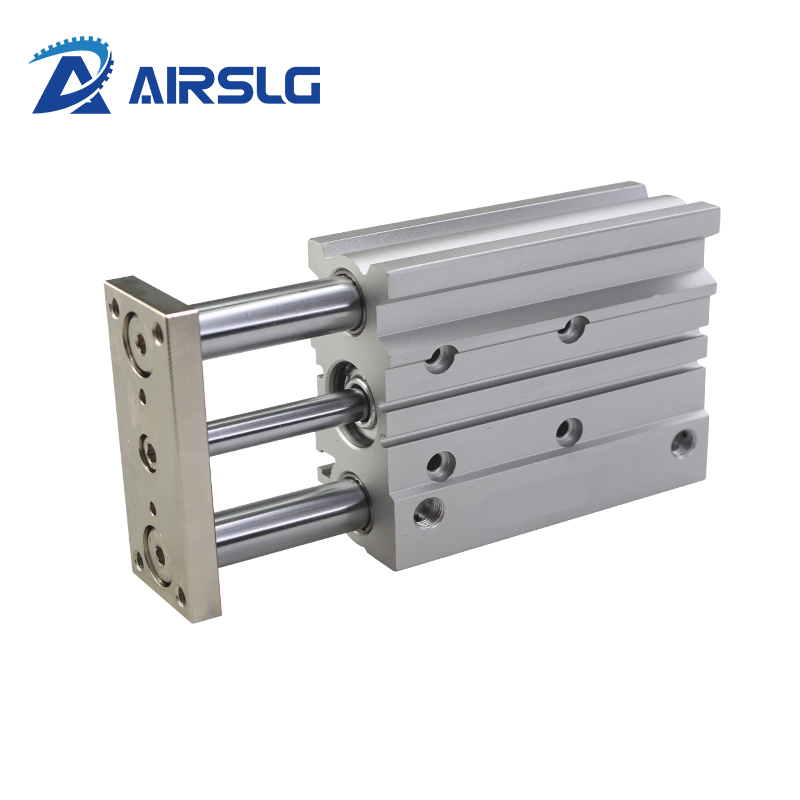 MGP Compact guide cylinder Thin Three axis air pneumatic cylinder with guide rod MGPM bore 20 25mm stroke 20-200mm MGPL20 50