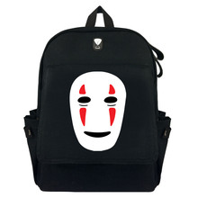 Animation Spirited Away Backpack Bags Cosplay Cartoon No Face man Canvas Zipper Satchel Cute School Bag Purse Book Bag Presents(China)