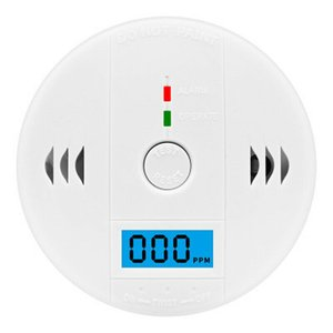 Monoxide Detector Alarm CO Gas Warning Sensor Alarm Monitor Tester Monoxide Smart Sensor LCD Carbon Security Carbon Home ACEHE