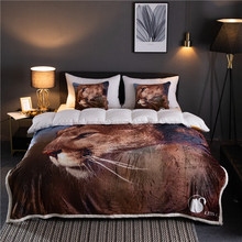 lion pattern Winter Thick Comfy Blanket Adults and Children Fleece Weighted Blankets for Beds Travel