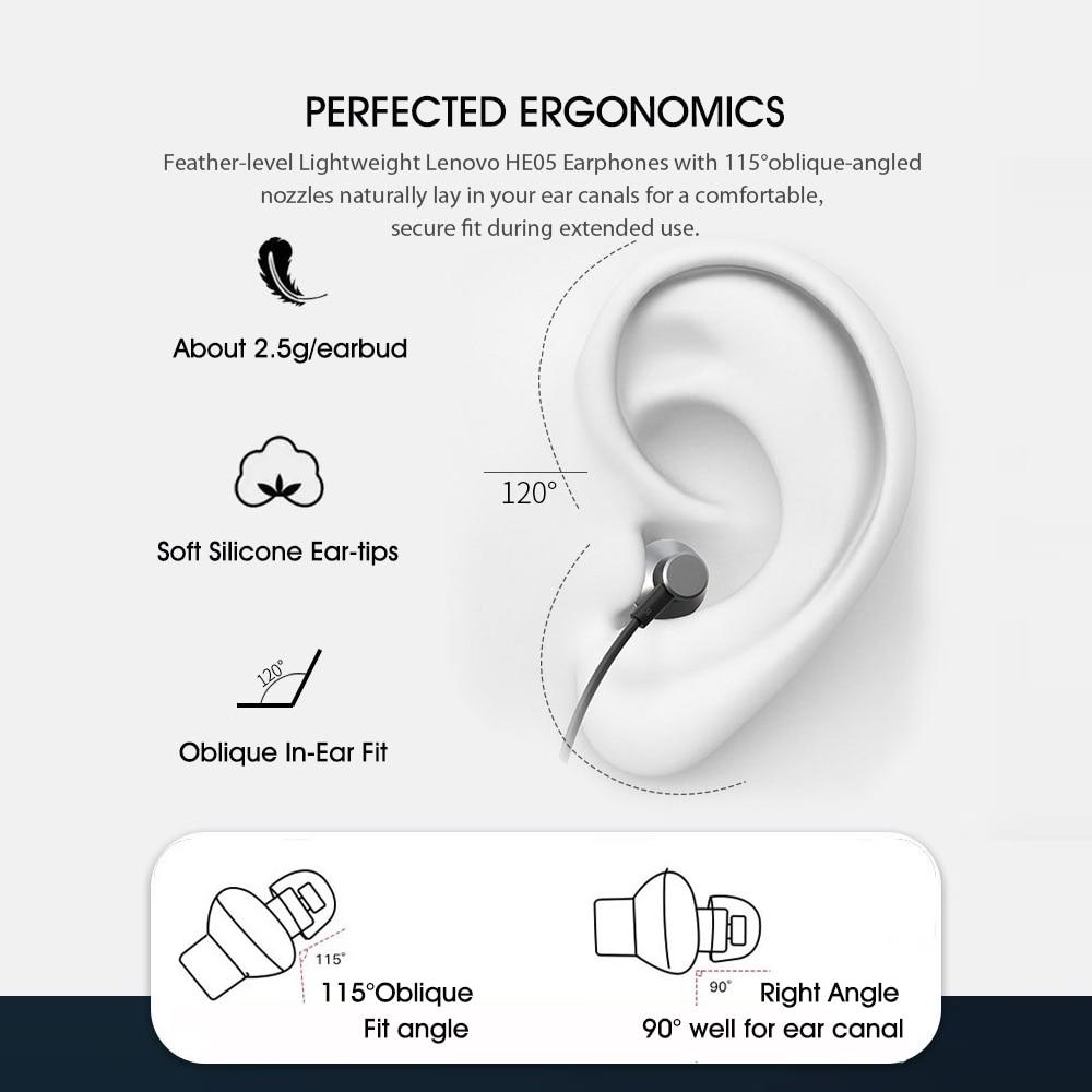Lenovo HE05 Magnetic Neckband Earphones 6