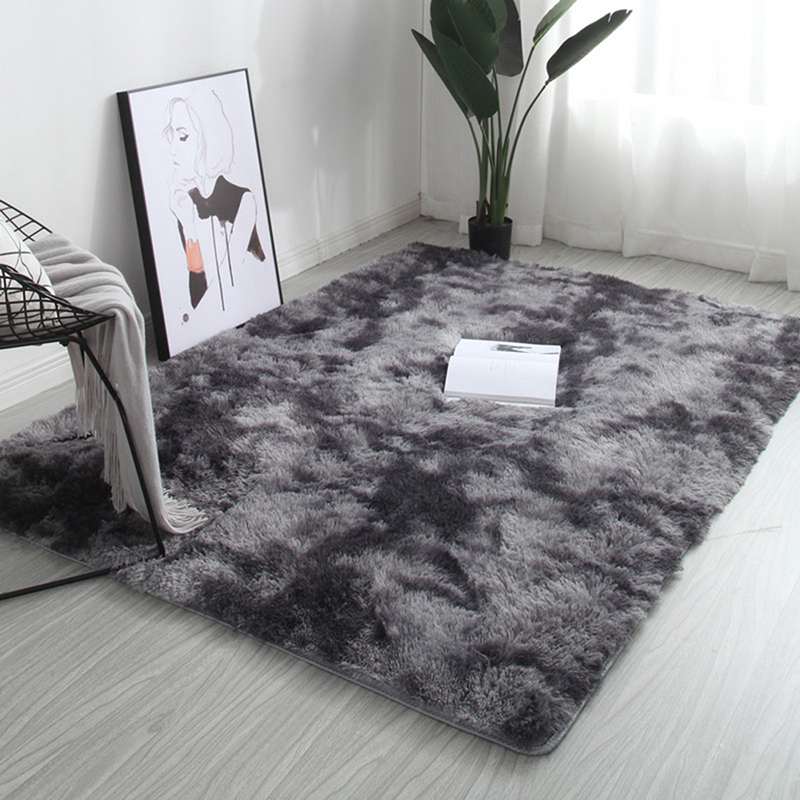 40*60cm Fluffy Rugs Anti-Skid Shaggy Area Rug Dining Room Home Bedroom Carpet Floor Mat