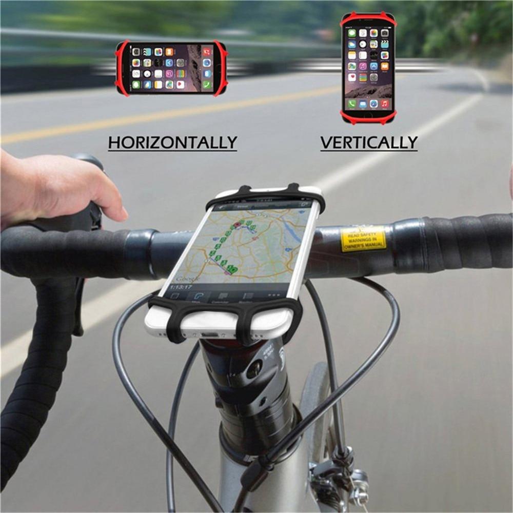 Universal Mobile Cell Phone Holder Bicycle Phone Holder Bike Handlebar Clip Stand GPS Mount Bracket Holder