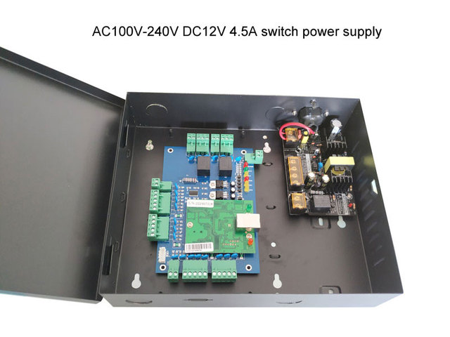 Two door access control panel access control board TCP/IP access control system with power supply 110V/220V sn:L02_set