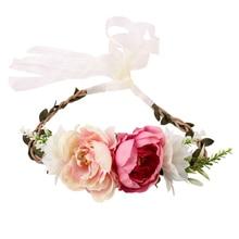 Цветочная повязка на голову, украшение для волос из искусственного цветка для детей